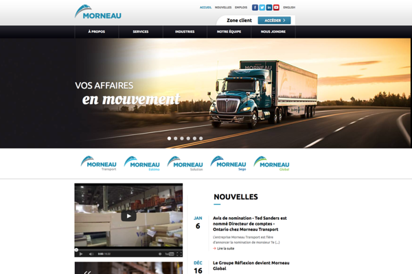 Transport Morneau, http://www.groupemorneau.com