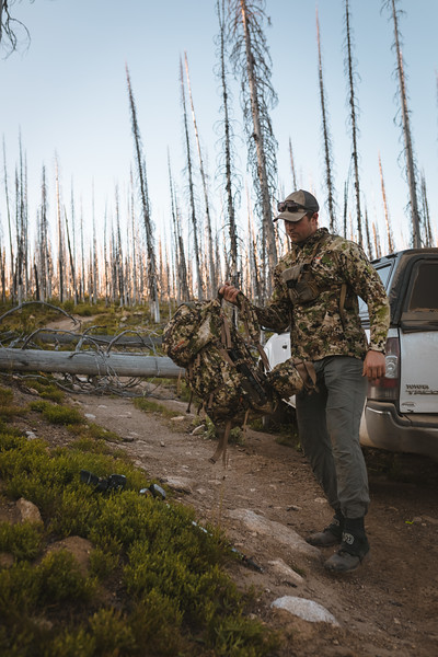 Sam Averett (@samaverett) scouting country in Idaho for Elk and Mule Deer. July, 2019