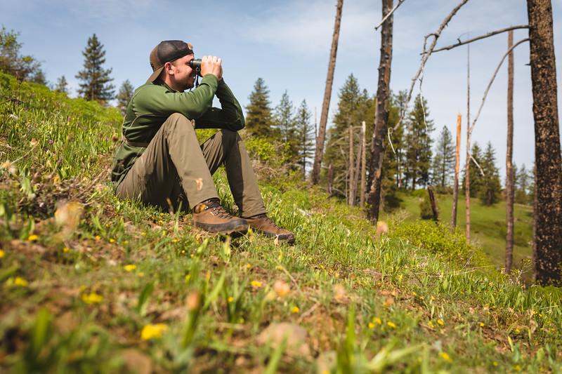 Austin Heinrich (no IG) glassing for spring bear in Idaho.