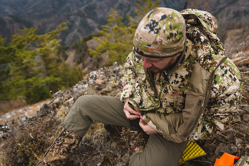 Austin Heinrich (no social) layering up in Washington with the Kelvin down WS while mule deer hunting.