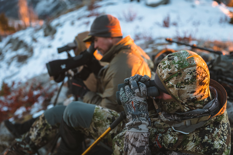 Casey Barton (@_caseybarton_) Sam Averett (@samaverett) and Cooper Brooks (@coop41_brooks) glassing for elk in Idaho during rifle season. October 2018