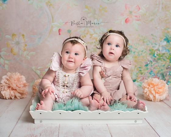 Harper & Olivia ~ 6 Months of Sweetness