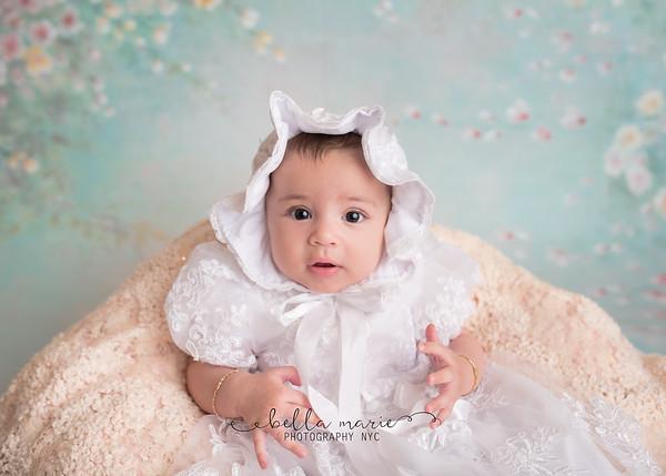 Mia's Christening / 4 months
