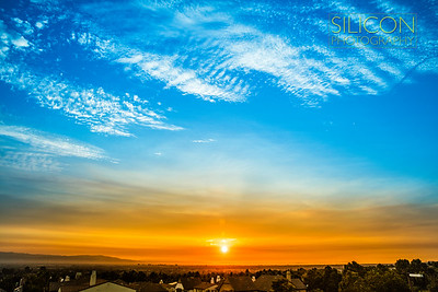 50 MegaPixel - Sunset view from fowler creek park,  Evergreen San Jose, CA
