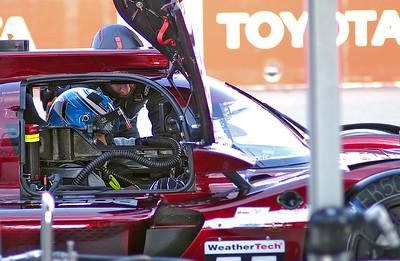 Mazda #55 Jonathan Bomarito prepares to drive.