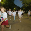 Many participants venture forth during the 4k Run Walk & Roll Thursday morning. Photo by Mike Levin