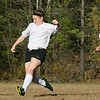The Sizer School girls soccer in Fitchburg played<br /> Trivium girls on Wednesday afternoon at Saima Park in Fitchburg. Sizer's #2 Carolyn Ferguson chases down THS's #16 Meg Trettel. SENTINEL & ENTERPRISE/JOHN LOVE