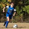 The Sizer School girls soccer in Fitchburg played<br /> Trivium girls on Wednesday afternoon at Saima Park in Fitchburg. Sizer's #2 Carolyn Ferguson. SENTINEL & ENTERPRISE/JOHN LOVE