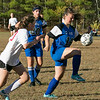 The Sizer School girls soccer in Fitchburg played<br /> Trivium girls on Wednesday afternoon at Saima Park in Fitchburg. THS's #20 Anna Kearney chases down Sizer's #14 Taylor Brown. SENTINEL & ENTERPRISE/JOHN LOVE