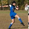 The Sizer School girls soccer in Fitchburg played<br /> Trivium girls on Wednesday afternoon at Saima Park in Fitchburg. Sizer's #20 Stephanie Montanez. SENTINEL & ENTERPRISE/JOHN LOVE