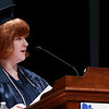 Scenes from the Sizer School graduation on Tuesday night at Weston Auditorium at Fitchburg State University. Sizer School student speaker Rachel Claflin addresses the class of 2018 along with their family and friends at the ceremony. SENTINEL & ENTERPRISE/JOHN LOVE