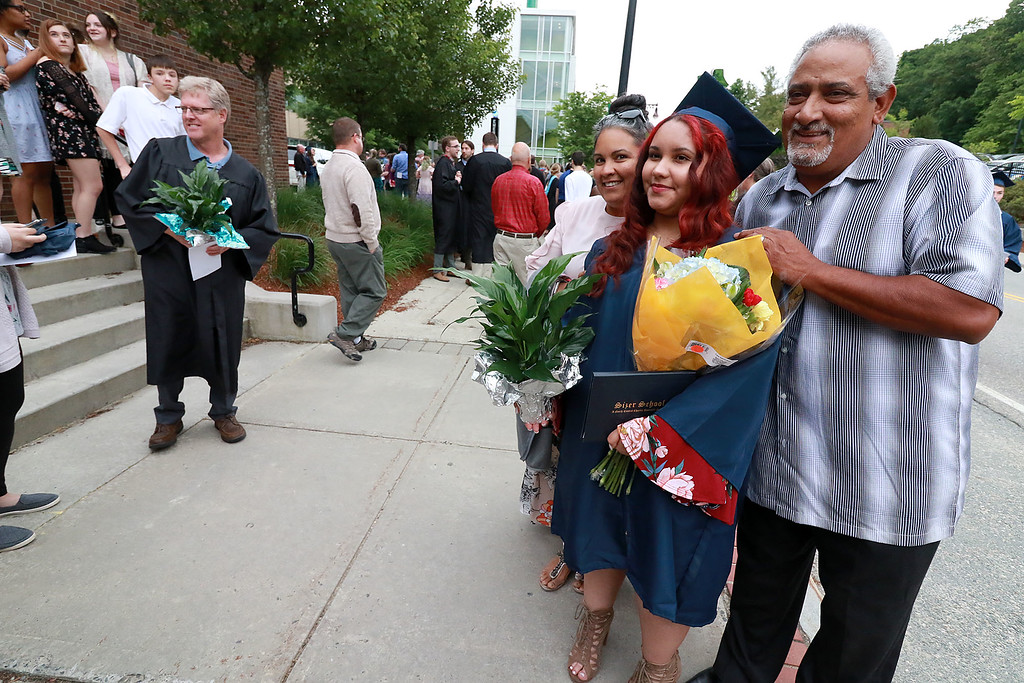 . Scenes from the Sizer School graduation on Tuesday night at Weston Auditorium at Fitchburg State University.  SENTINEL & ENTERPRISE/JOHN LOVE