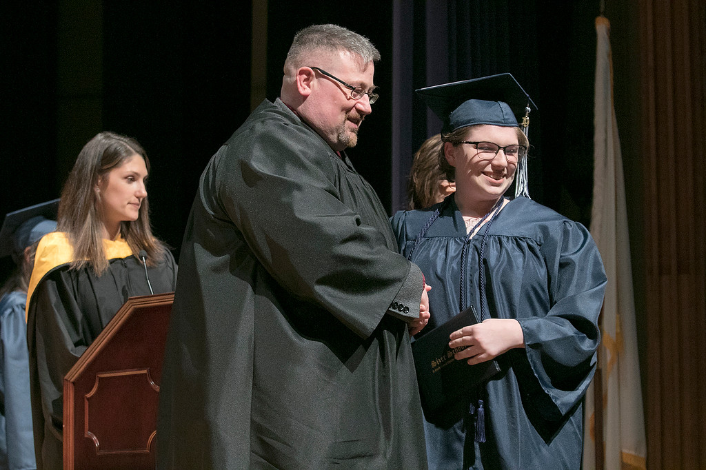 . The Sizer A North Central Charter Essential School held their graduation on Thursday night, June 6, 2019 at Fitchburg State University. SENTINEL & ENTERPRISE/JOHN LOVE