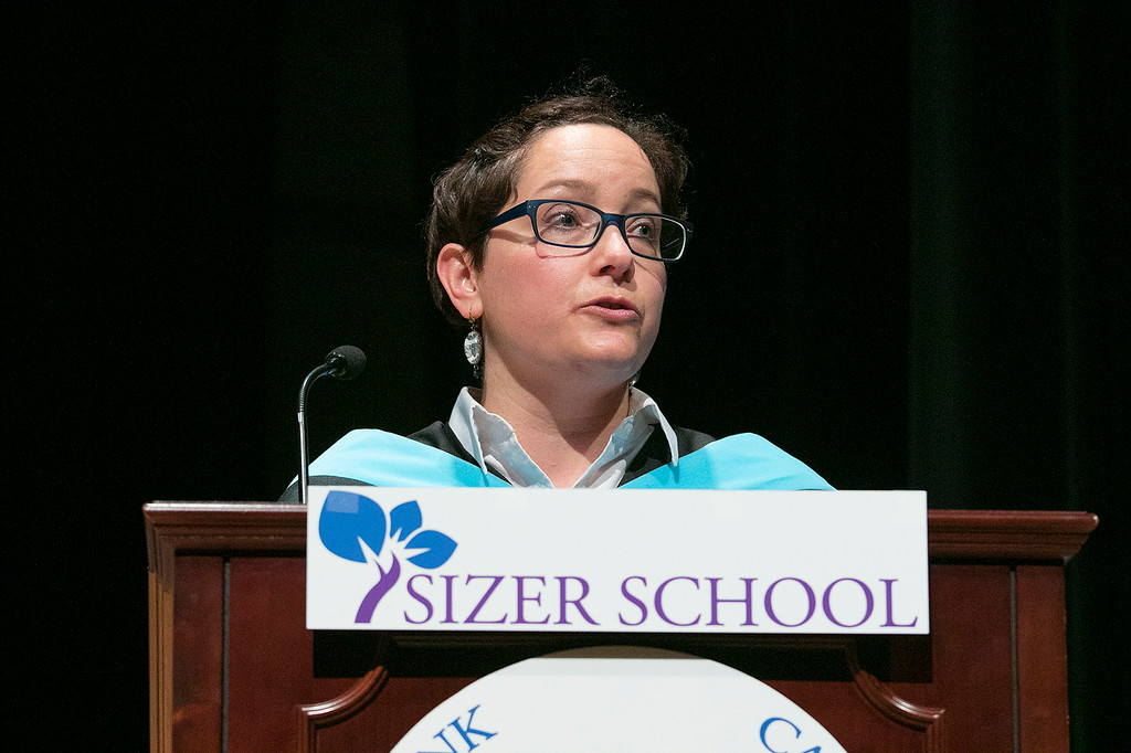 . The Sizer A North Central Charter Essential School held their graduation on Thursday night, June 6, 2019 at Fitchburg State University. Welcoming remarks were given by the Sizers Executive Director Courtney Harter. SENTINEL & ENTERPRISE/JOHN LOVE