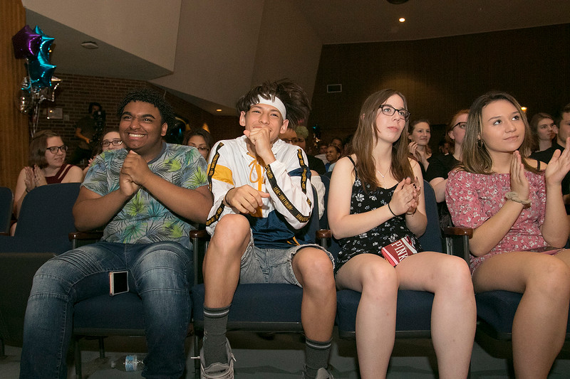 The Sizer A North Central Charter Essential School held their graduation on Thursday night, June 6, 2019 at Fitchburg State University. Students from the class of 2020 listens to the student speakers during the ceremony. SENTINEL & ENTERPRISE/JOHN LOVE