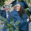 The Sizer A North Central Charter Essential School held their graduation on Thursday night, June 6, 2019 at Fitchburg State University. Graduates Kaeleigh Reeves and Megan Brown hug at the end of the ceremony. SENTINEL & ENTERPRISE/JOHN LOVE