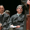 The Sizer A North Central Charter Essential School held their graduation on Thursday night, June 6, 2019 at Fitchburg State University. Senator Dean Tran and Fitchburg Mayor Stephen DiNatale listen to the speakers during the ceremony. SENTINEL & ENTERPRISE/JOHN LOVE