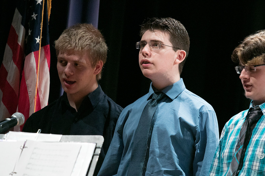 . The Sizer A North Central Charter Essential School held their graduation on Thursday night, June 6, 2019 at Fitchburg State University. The Sizer Singers perform during the ceremony. SENTINEL & ENTERPRISE/JOHN LOVE