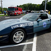 A 1989 State Police corvette on display during the Sizer School summer celebration and class car show on Saturday afternoon. SENTINEL & ENTERPRISE / Ashley Green