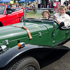 Richard and Judy Tuttle, of Westminster, arrive in their 1929 Mercedes during the Sizer School summer celebration and class car show on Saturday afternoon. SENTINEL & ENTERPRISE / Ashley Green