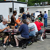 Guests enjoy lunch from Teddy's Lunch Box during the Sizer School summer celebration and class car show on Saturday afternoon. SENTINEL & ENTERPRISE / Ashley Green