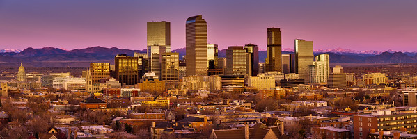 Denver Skyline Sunrise
