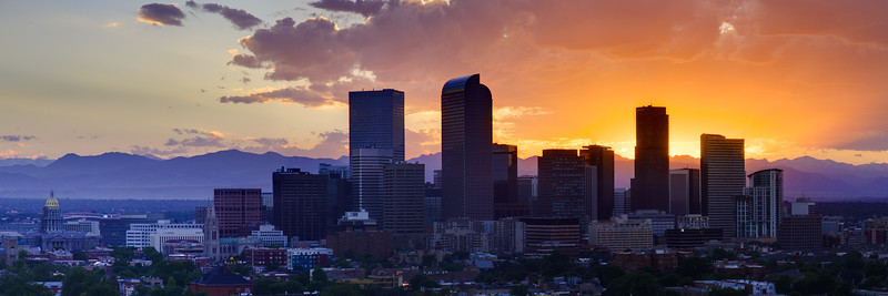 Denver Skyline Sunset