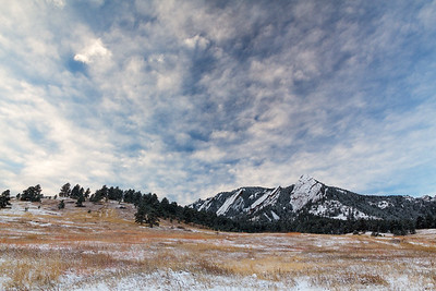 Morning Winter Flatirons