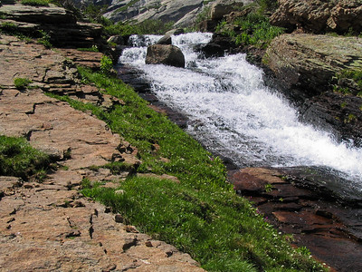 Rock, Grass, and Water