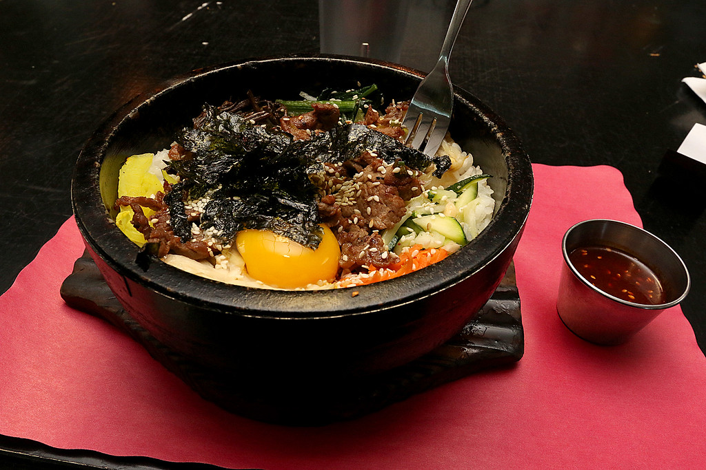 . The dish Bibimbap at the Sizzling Kitchen in Lowell on Merrimack Street. SUN/JOHN LOVE