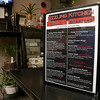 The menu at the Sizzling Kitchen in Lowell on Merrimack Street. SUN/JOHN LOVE