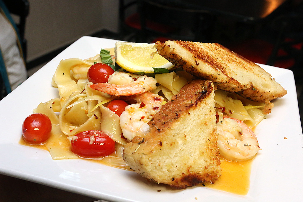 . The dish Sizzling Shrimp Scampi at the Sizzling Kitchen in Lowell on Merrimack Street. SUN/JOHN LOVE