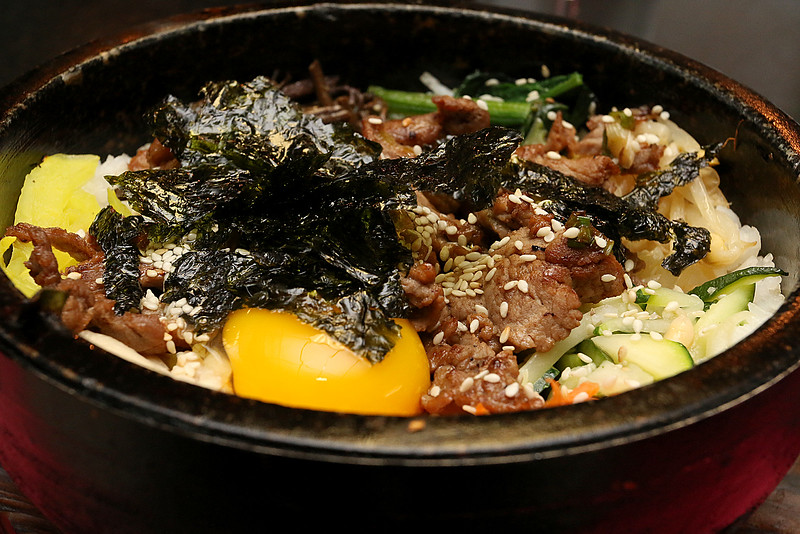 The dish Bibimbap at the Sizzling Kitchen in Lowell on Merrimack Street. SUN/JOHN LOVE