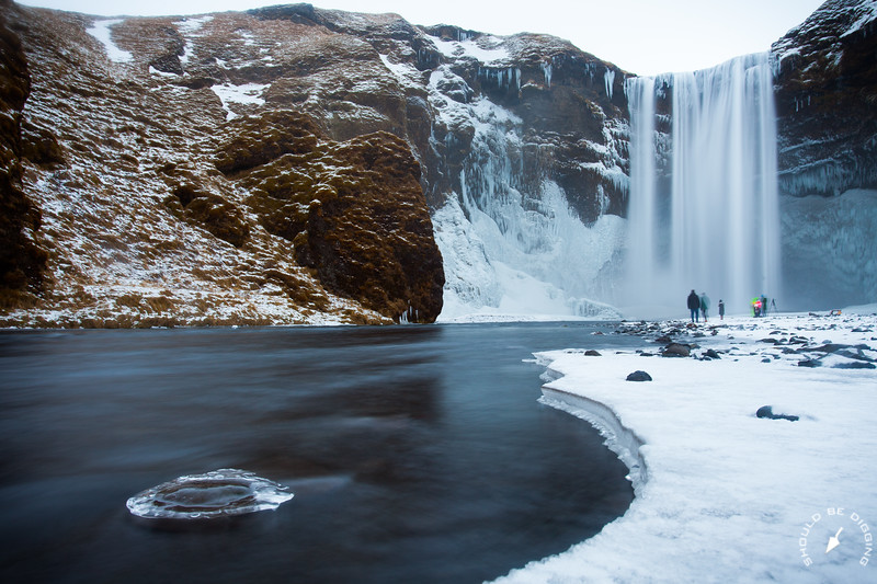 The Treasure Behind Skógafoss Waterfall