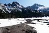 Skirting around Upper Snow Lake.