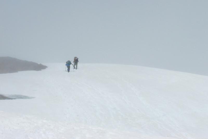 Getting near Easton Glacier