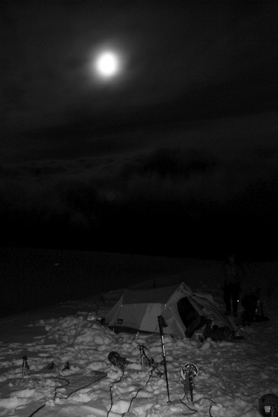 There was a beautiful orange full moon but I was unable to capture it so here is a b/w version