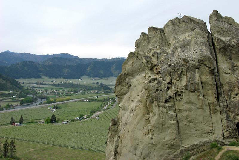 A view back towards Peshastin.