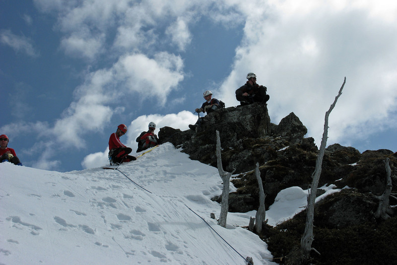 Some of the group enjoying the view on the summit
