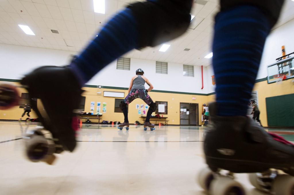 . F0215SKATEFIT6 Skate Fit event at Imagine Charter School in Firestone on Thursday February 2, 2017.  Photo by: Jonathan Castner