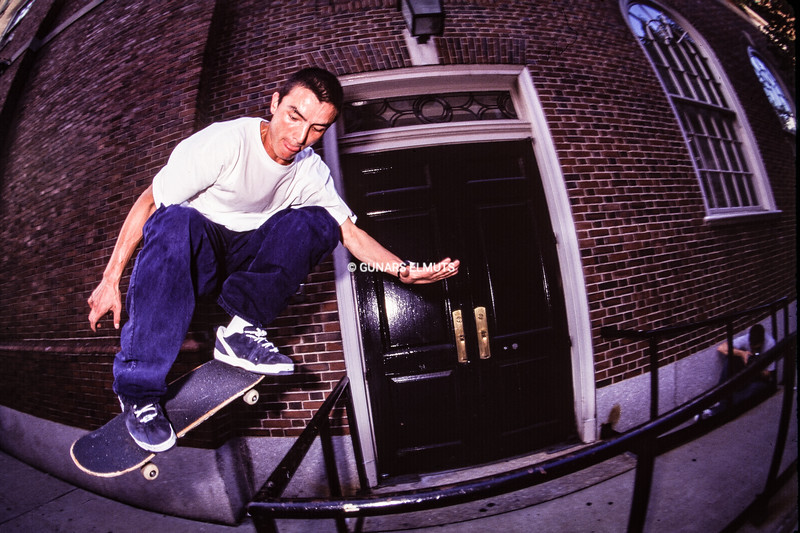Jeff Pang BS 180 on West 3rd st 1995