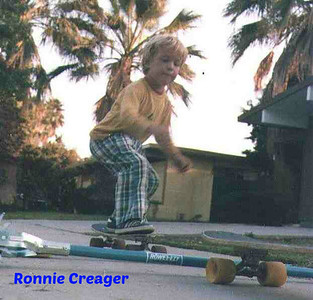Skateboarder Ronnie Creager