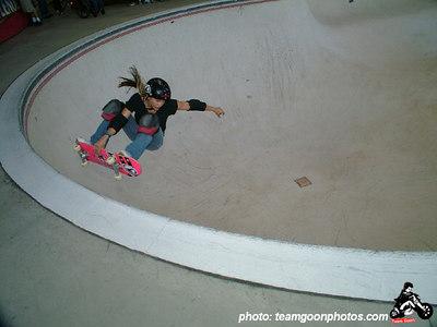 Holly Lyons - Pro Tec Pool Party Contest - at VANS - Orange, CA - May 14, 2005