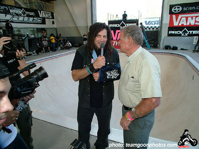 Dave Duncan and Stan Hoffman - Pro Tec Pool Party Contest - at VANS - Orange, CA - May 14, 2005