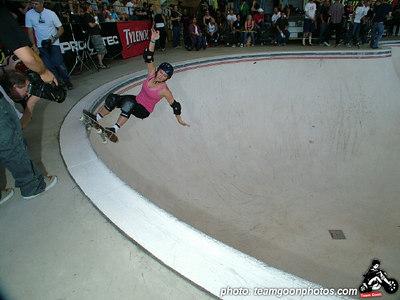 Jenn O'brien - Pro Tec Pool Party Contest - at VANS - Orange, CA - May 14, 2005