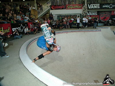 Mike Smith - Pro Tec Pool Party Contest - at VANS - Orange, CA - May 14, 2005