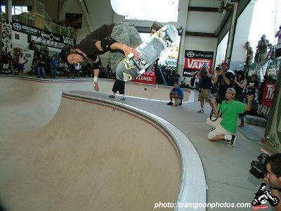 Chris Miller - Pro Tec Pool Party Contest - at VANS - Orange, CA - May 14, 2005