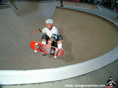 Marty Grimes - Pro Tec Pool Party Contest - at VANS - Orange, CA - May 14, 2005