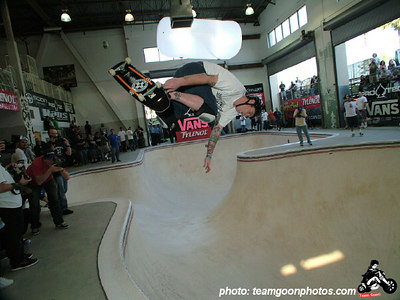 Jeff Grosso -Pro Tec Pool Party Contest - at VANS - Orange, CA - May 14, 2005