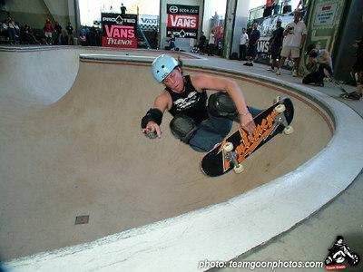 Kim Peterson - Pro Tec Pool Party Contest - at VANS - Orange, CA - May 14, 2005